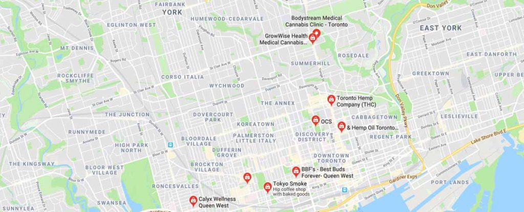 Where to buy CBD oil in Toronto, Ontario, Canada.