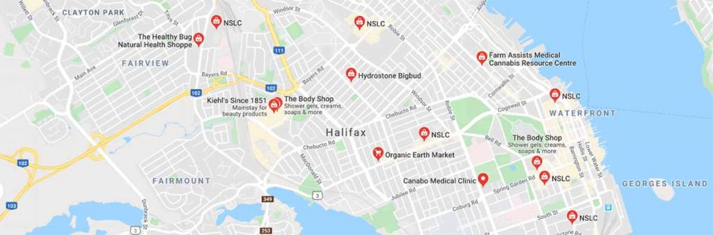 Where to buy CBD oil in Halifax, Nova Scotia on the east coast of Canada.